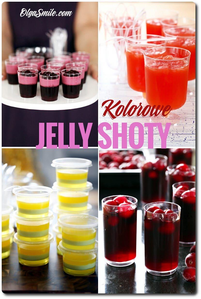 Kolorowe jelly shoty