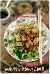 Makaron ryżowy z tofu