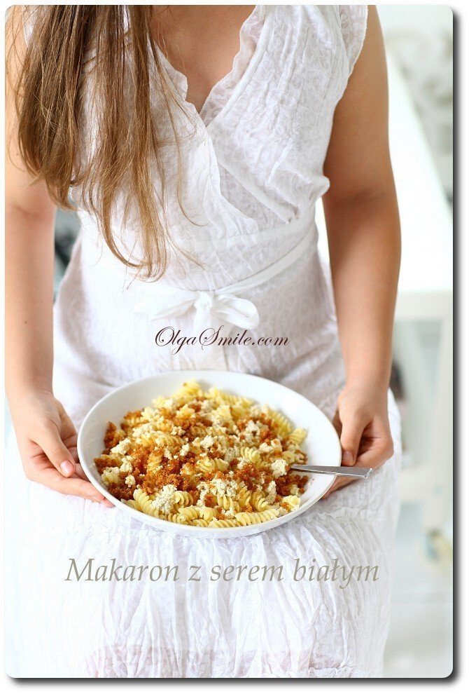 Makaron z serem białym