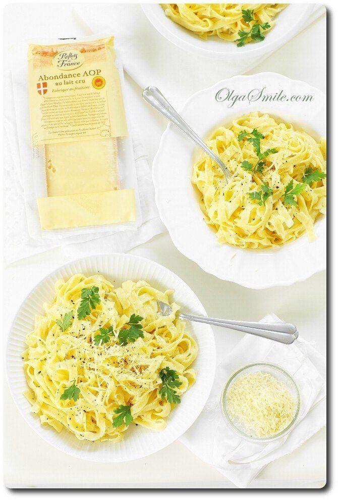 Makaron z sosem serowym