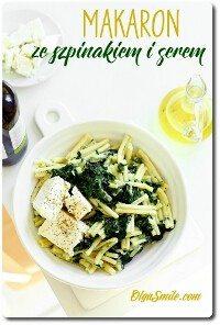 Makaron ze szpinakiem i serem