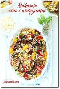 Makaron orzo z warzywami
