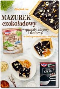 Mazurek czekoladowy bez cukru