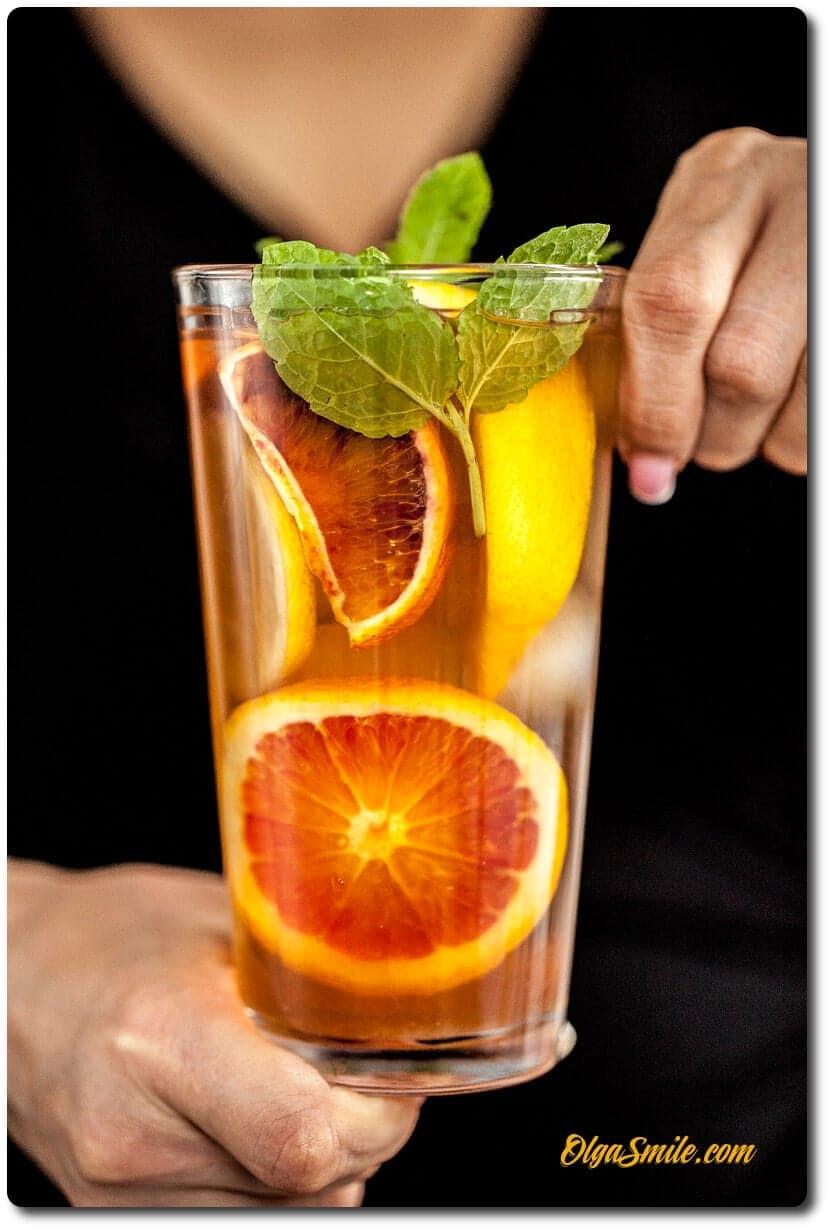 Cytrynowa mrożona herbata