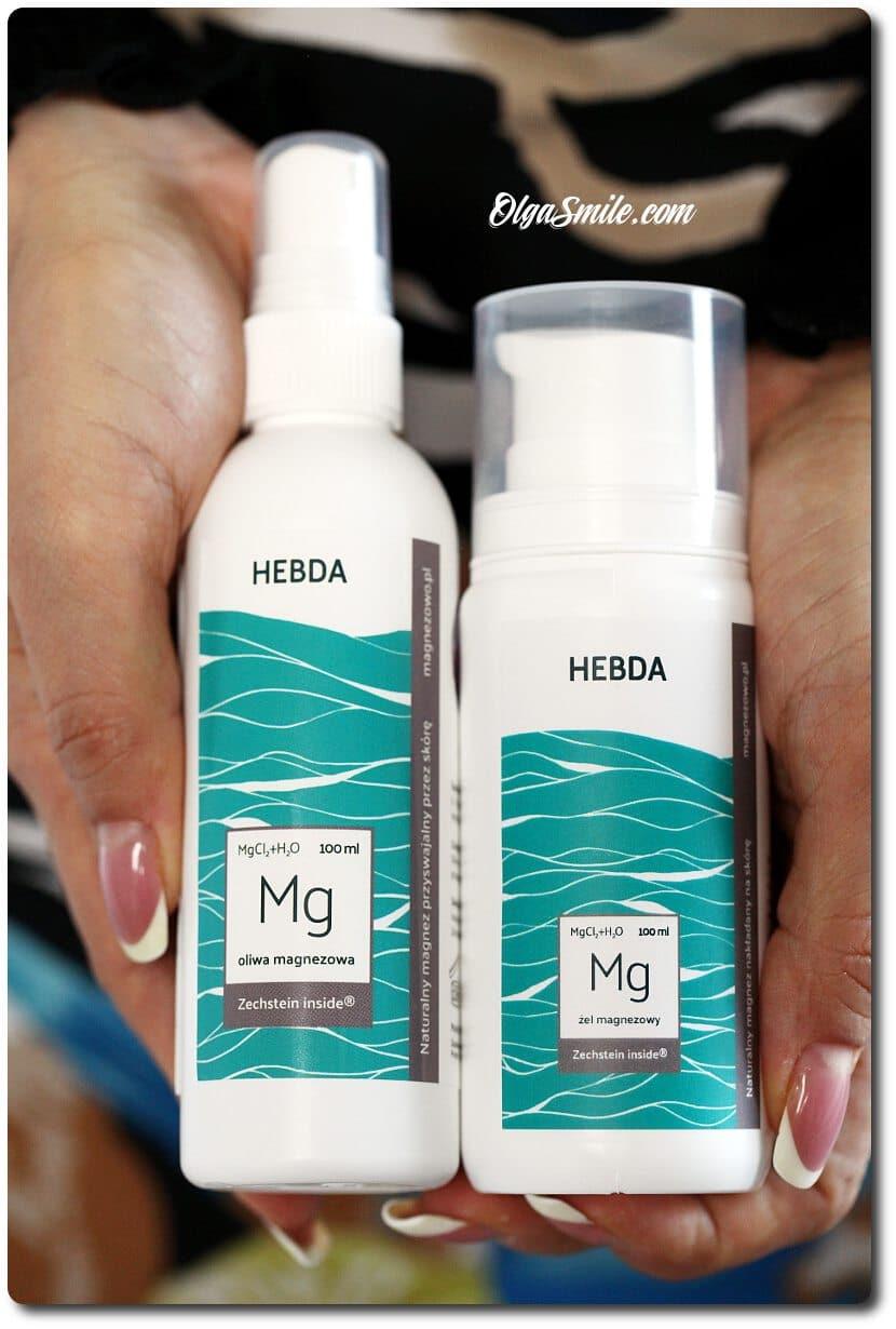 Oliwa magnezowa i żel magnezowy marki Hebda