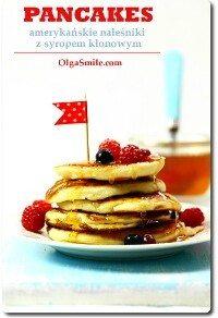 Pancakes amerykańskie naleśniki z syropem klonowym