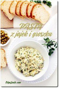 Pasta z jajek i groszku
