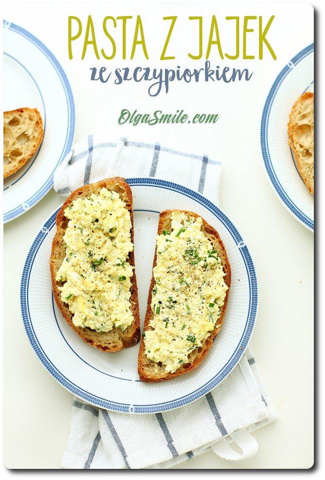 Pasta z jajek ze szczypiorkiem
