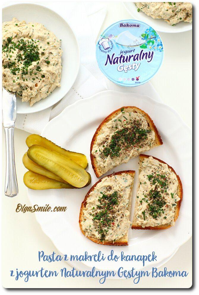 Pasta z makreli do kanapek z jogurtem Naturalnym Gęstym Bakoma