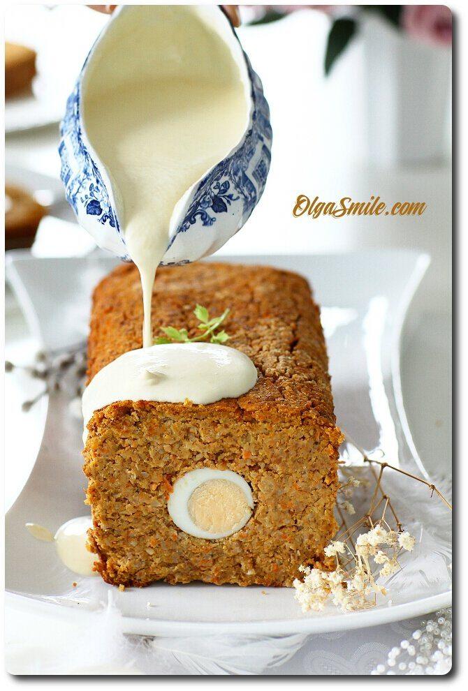 Pieczeń z jajkiem wegetariańska