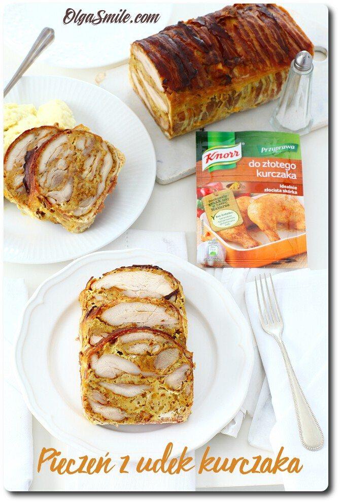 Pieczeń z udek z przyprawą Knorr do złotego kurczaka