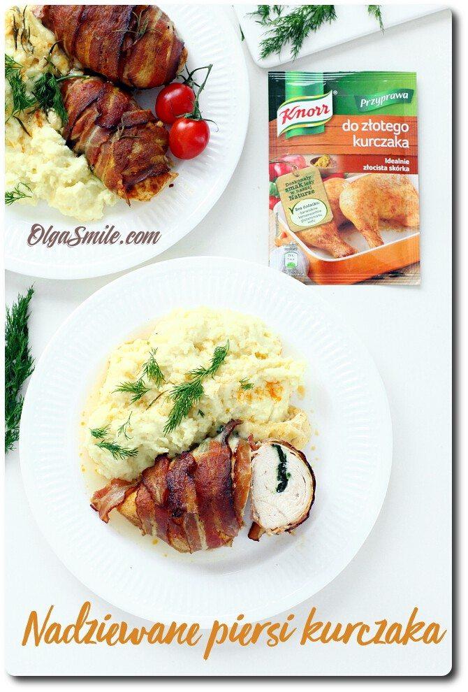 Nadziewane piersi kurczaka z przyprawą Knorr do złotego kurczaka