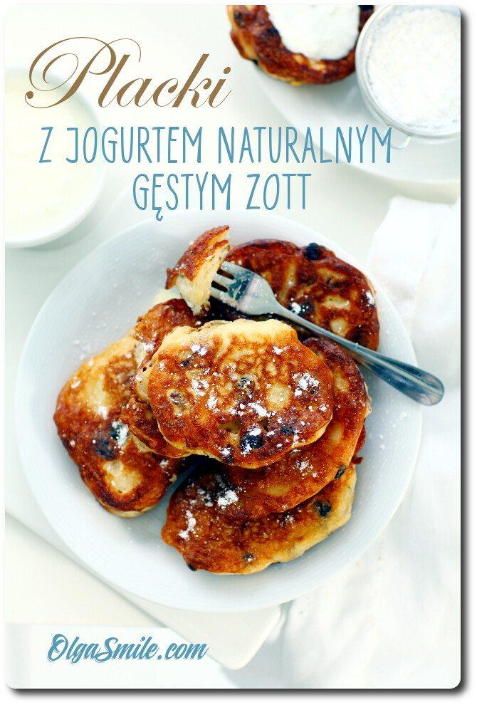 Placki z jogurtem naturalnym gęstym Zott