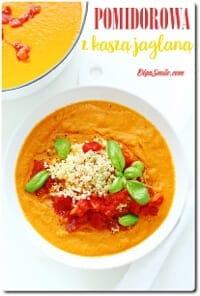 Zupa pomidorowa z kaszą jaglaną
