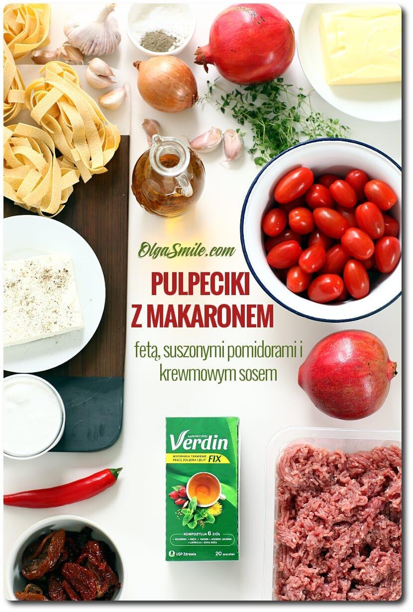 Pulpeciki z makaronem i pomidorami