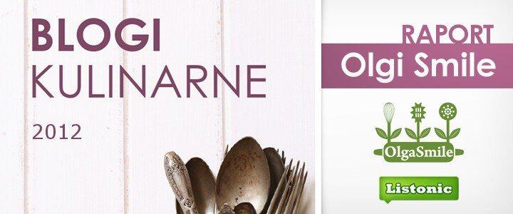 Raport Olgi Smile Blogi Kulinarne 2012