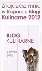 Znajdziesz mnie w Raporcie Blogi Kulinarne 2012