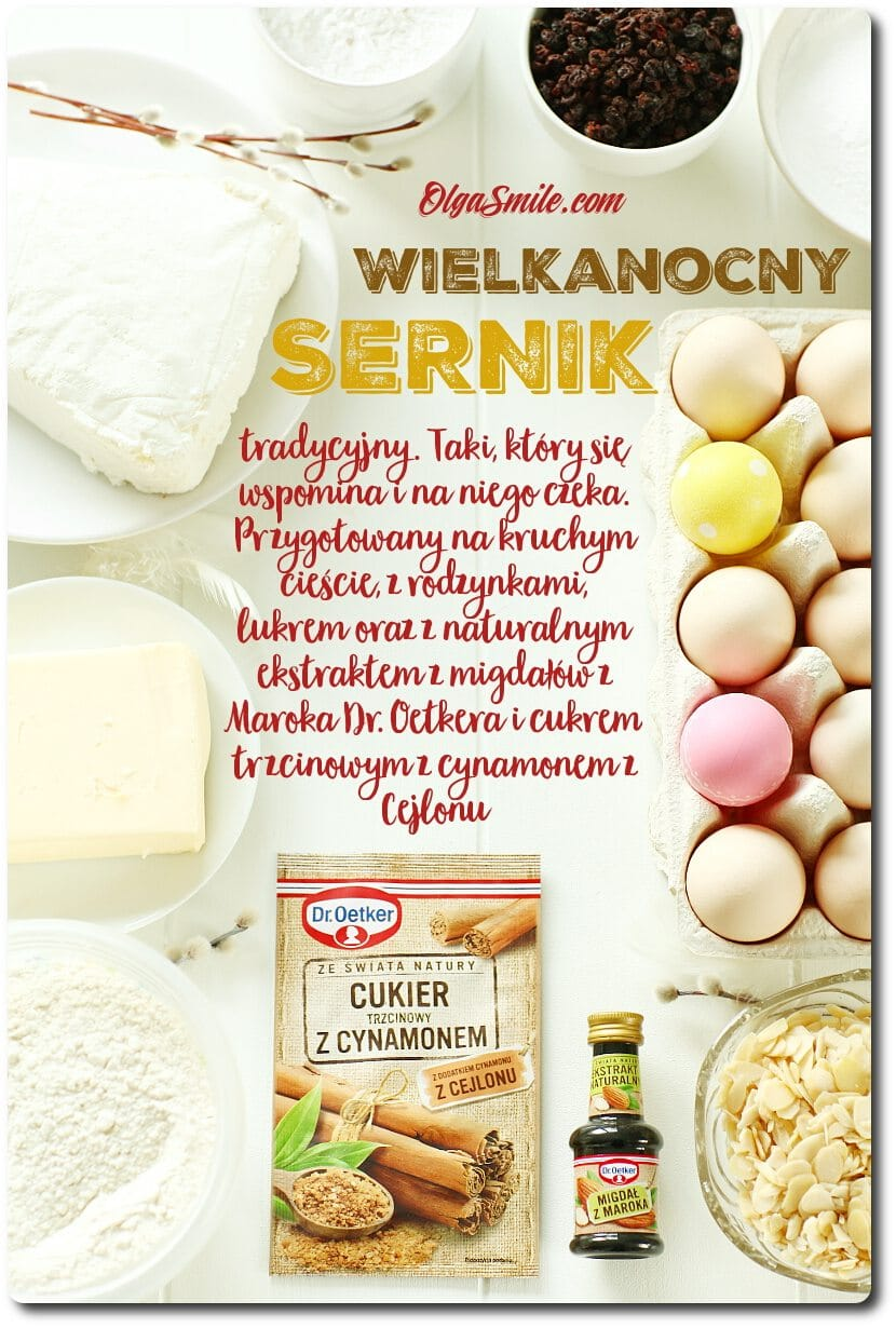 Sernik wielkanocny z naturalnym ekstraktem z migdałów z Maroka Dr. Oetkera