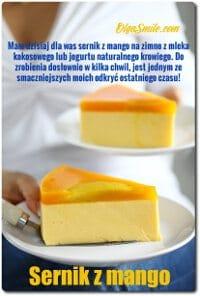 Sernik z mango