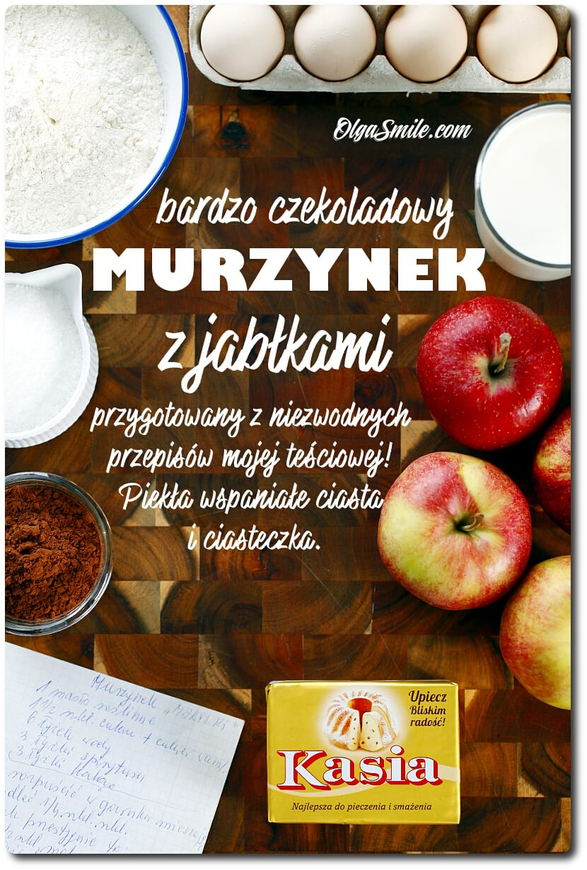 Murzynek z jabłkami