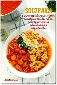 Soczewica z sosem pomidorowym