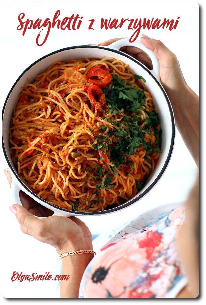 Spaghetti z warzywami