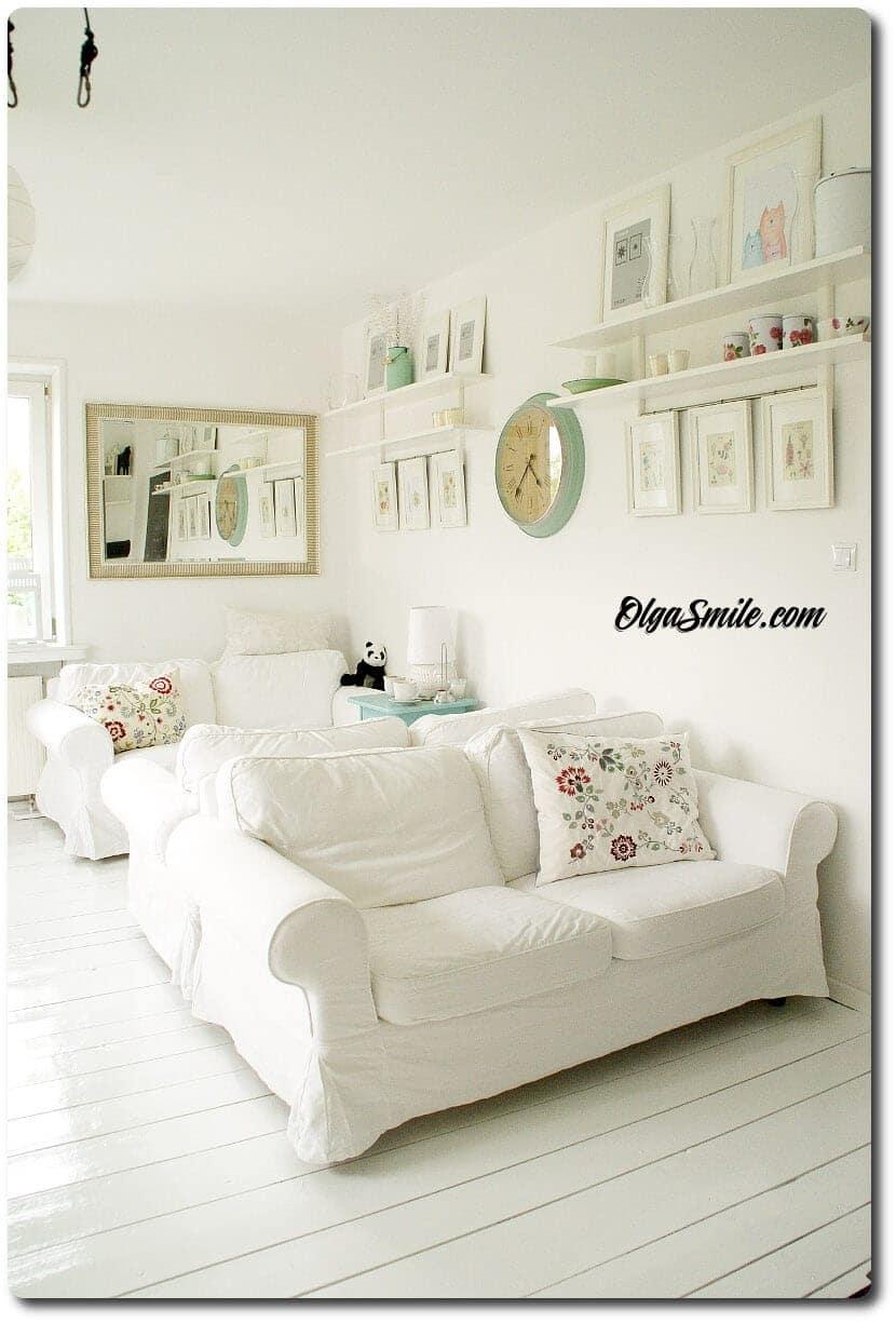 Biała podłoga drewniana