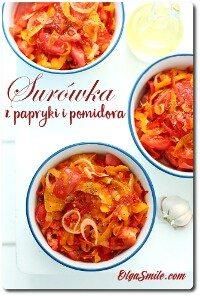 Surówka z papryki i pomidora