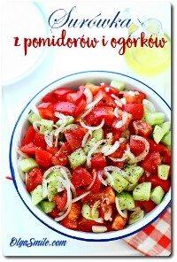 Surówka z pomidorów i ogórków