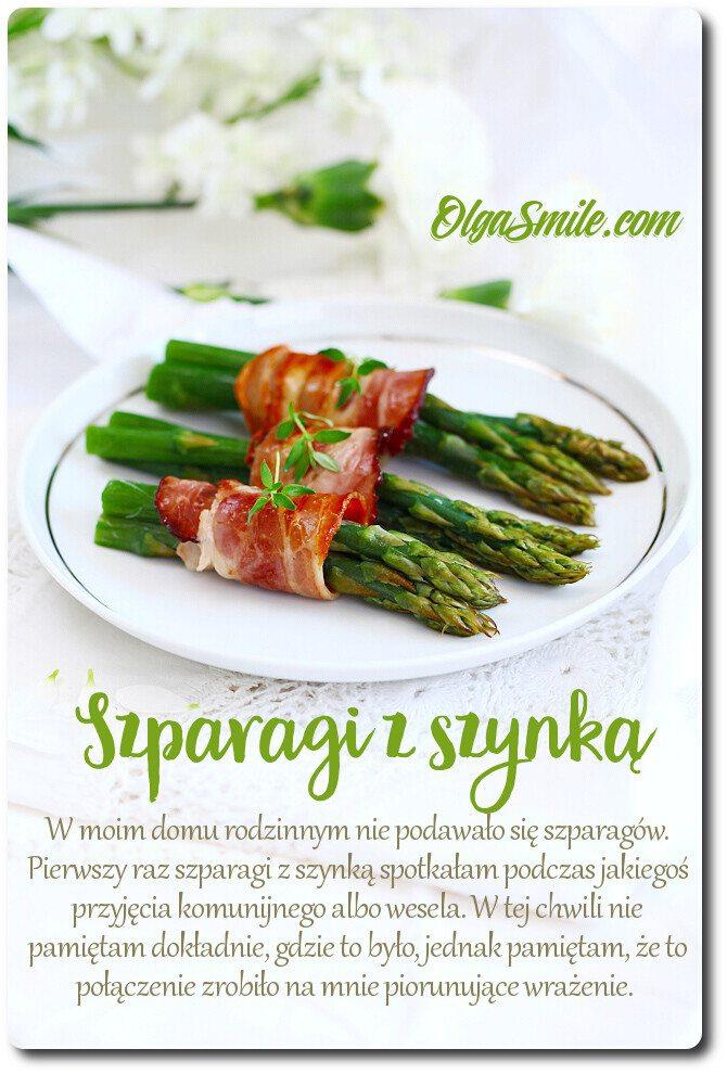 Szparagi z szynką