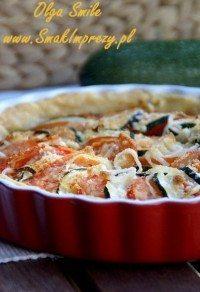 Tatra serowa z pomidorem i cukinią