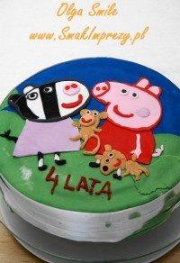 Tort ze świnką Peppą i zeberką Zoe