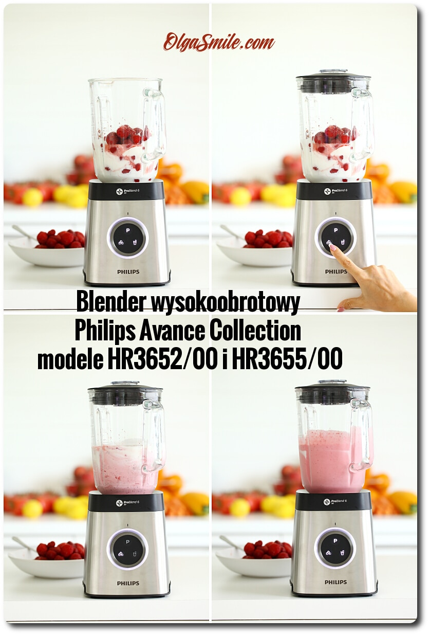 Blender wysokoobrotowy Philips Avance Collection model HR3652/00 i HR3655/00