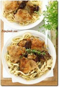 Makaron z kurczakiem