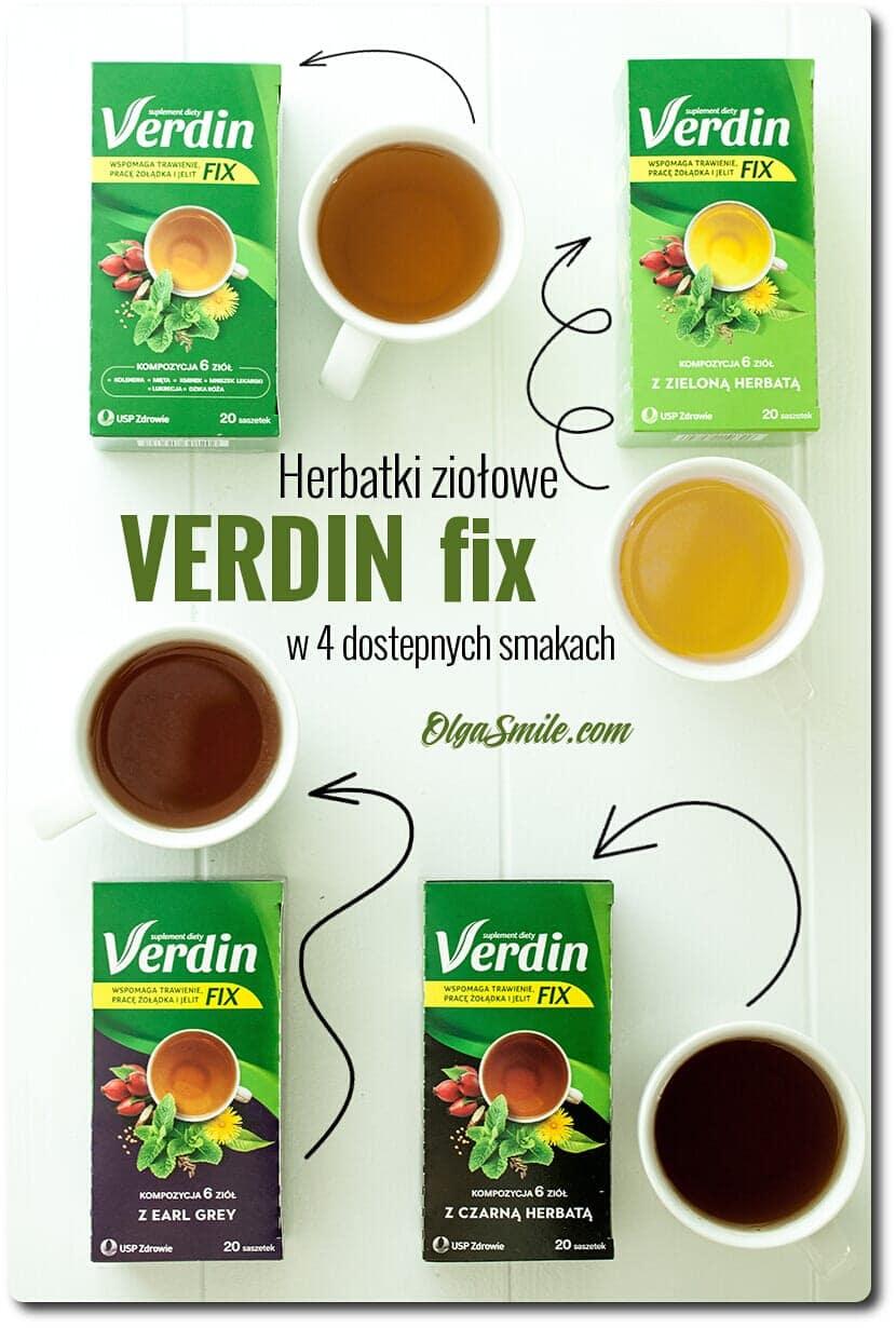 Herbatki Verdin fix 4 smaki