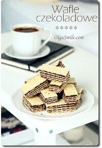 Wafle czekoladowe