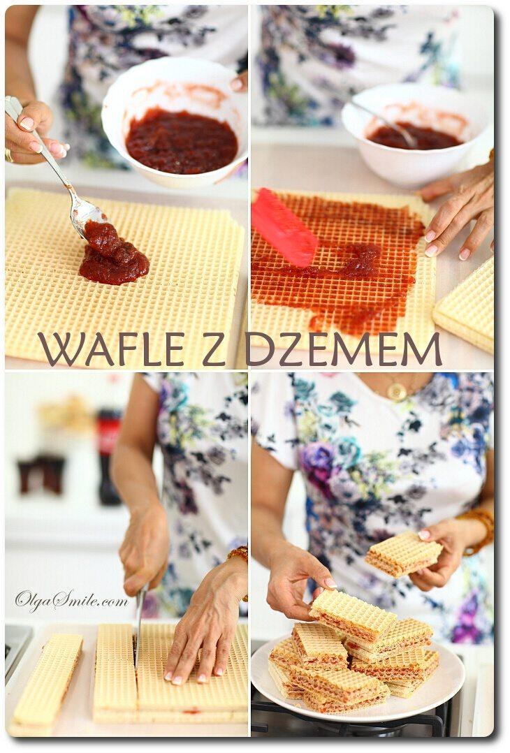 wafle z dzemem