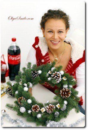 Wieniec z gałązek na Boże Narodzenie