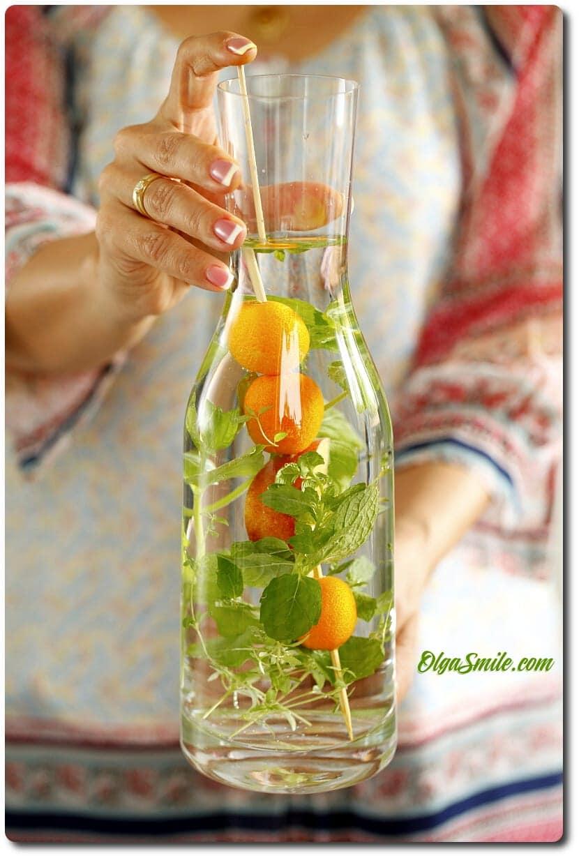 Woda z ziołami