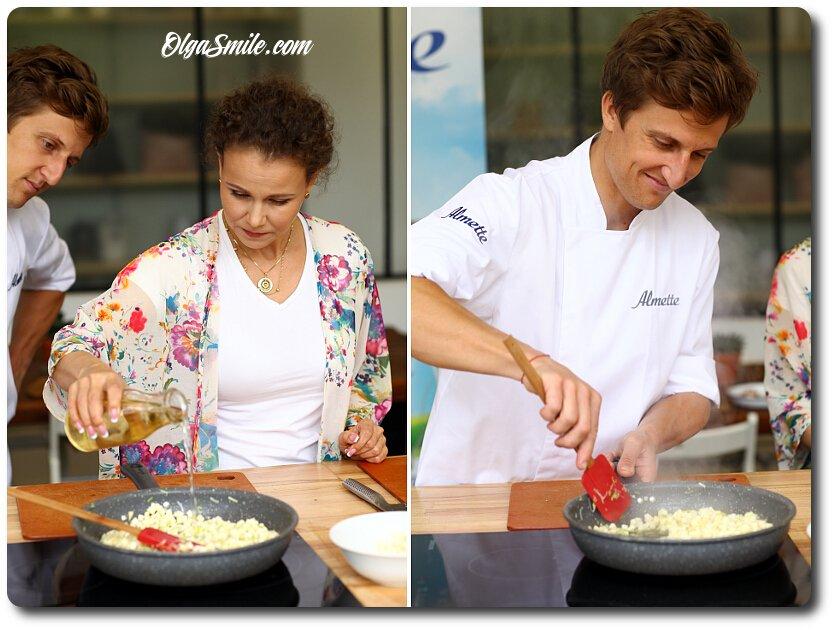Wspólne gotowanie Olga Smile z Davidem Gaboriaud i serkiem Almette