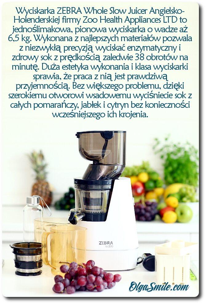 Wyciskarka ZEBRA Whole Slow Juicer