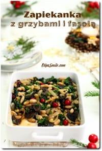 Zapiekanka z grzybami i fasolą