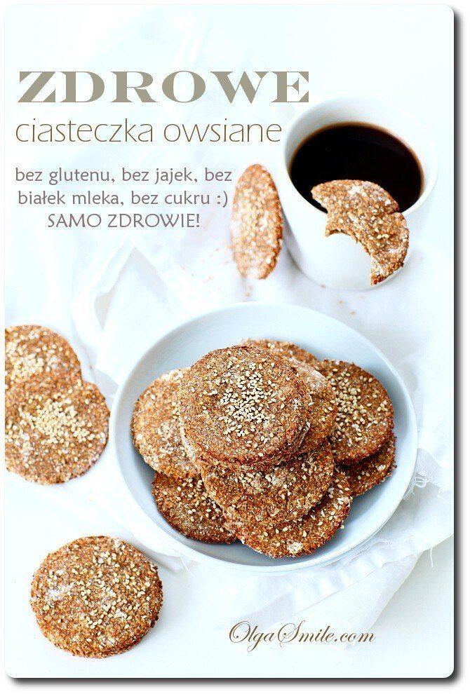 Zdrowe ciasteczka owsiane