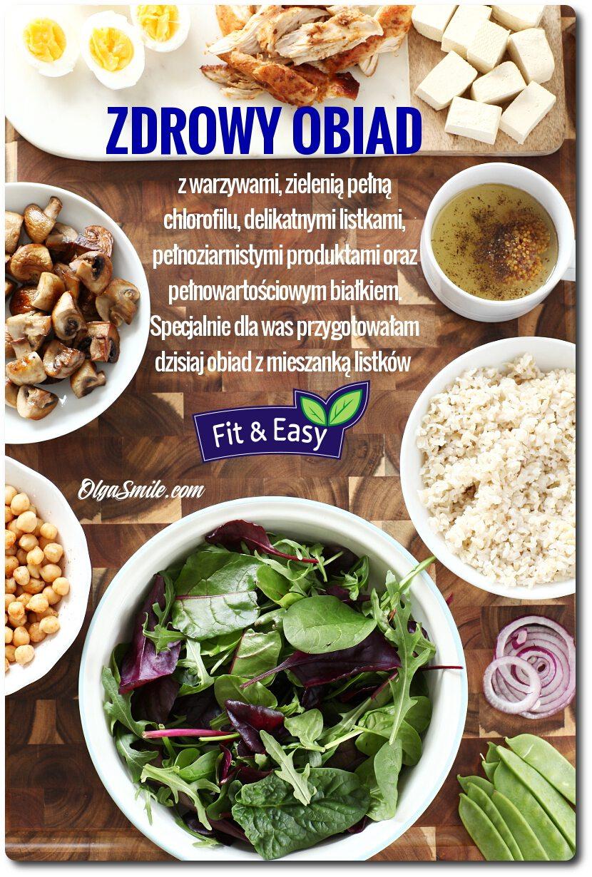 Zdrowy obiad z mieszanką młodych listków Romantica Fit&Easy