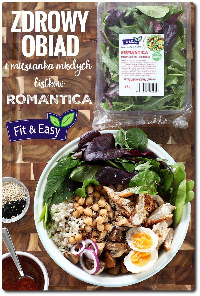 Zdrowy Obiad Z Mieszanka Mlodych Listkow Romantica Fit Easy Przepis
