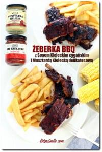 Żeberka BBQ z Sosem Kieleckim cygańskim i Musztardą Kielecką delikatesową