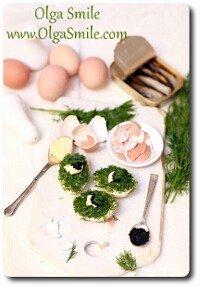 Jajka ze szprotkami