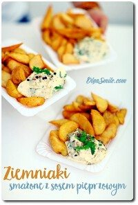 Ziemniaki smażone z sosem