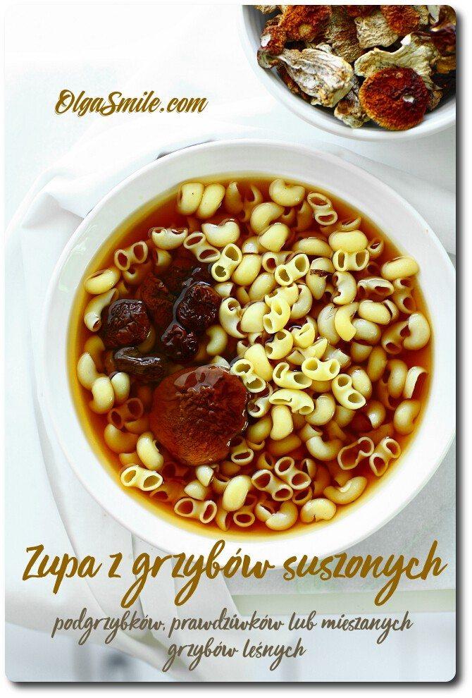 Zupa z grzybów suszonych