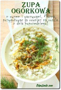 Zupa ogórkowa z ryżem